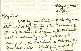 Genevieve Baird Farris Collection - Letter from Frank in May, 1945